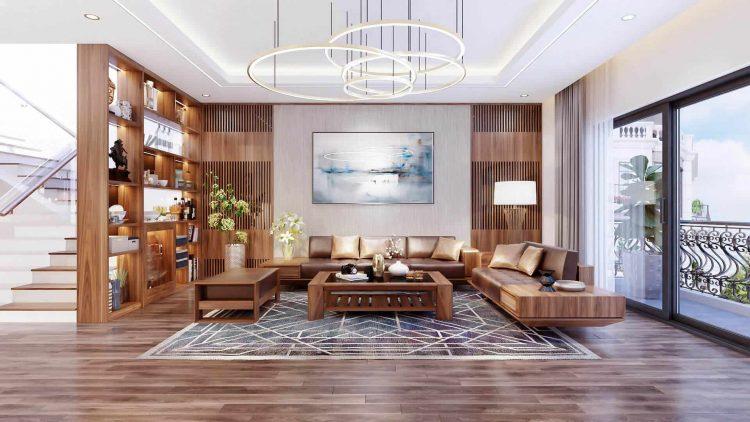 thiết kế nội thất phòng khách biệt thự