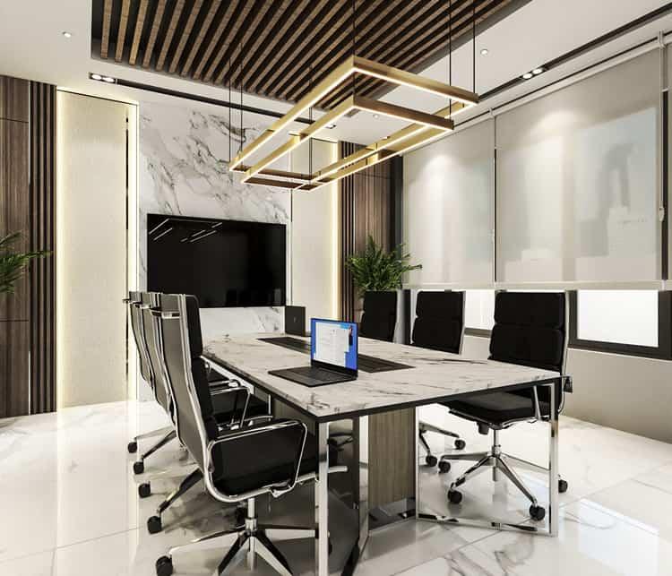 Thiết kế phòng họp sang trọng