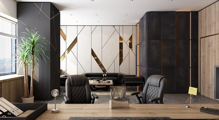 Thiết kế nội thất văn phòng hiện đại sang trọng