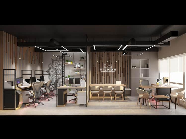 Mẫu thiết kế nội thất văn phòng nhỏ 30m2