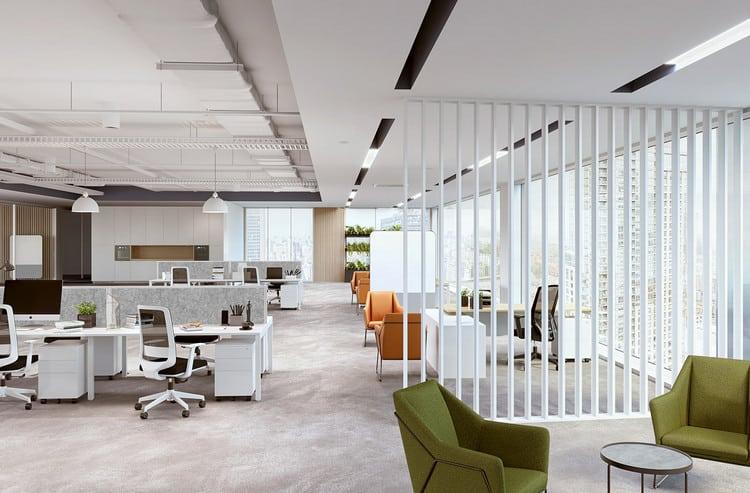 thiết kế văn phòng 70m2