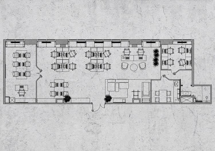 mẫu văn phòng 70m2