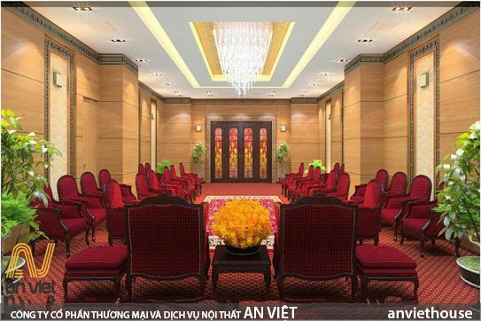 Thiết kế văn phòng khối cơ quan nhà nước sang trọng, tổ chức không gian, sắp xếp, lựa chọn chất liệu, màu sắc đặc trưng