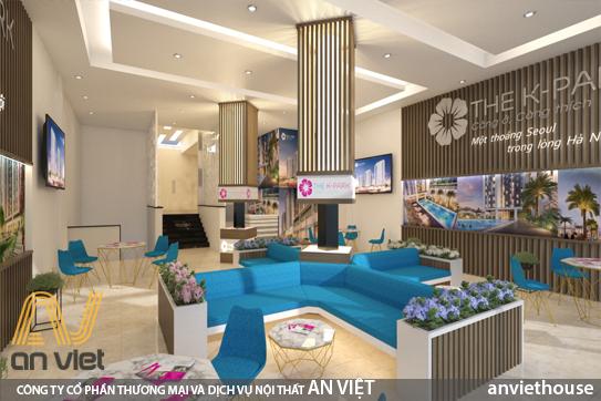 Thiết kế văn phòng giao dịch hiện đại, đáp ứng yêu cầu về công năng, thẩm mỹ, nhu cầu tiếp đón lượng khách với sự tiện nghi của nội thất