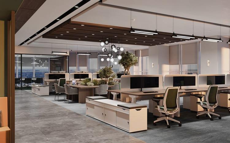 thiết kế văn phòng co-working