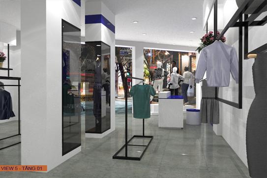 Sản xuất nội thất shop thời trang