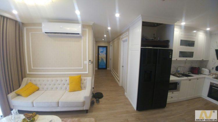 Thi công nội thất căn hộ Vinhomes Ocean Park - tân cổ điển