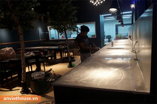 An Viet house thi công nội thất nhà hàng