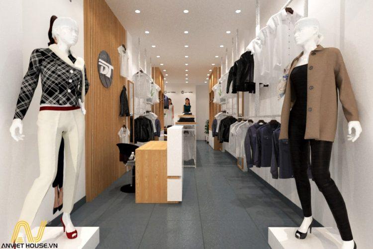 Thiết kế cửa hàng quần áo nữ