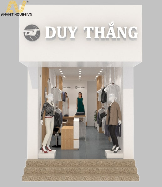 Thiết kế thi công cửa hàng thời trang