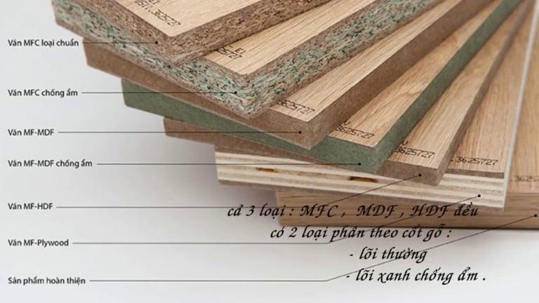 cốt gỗ công nghiệp