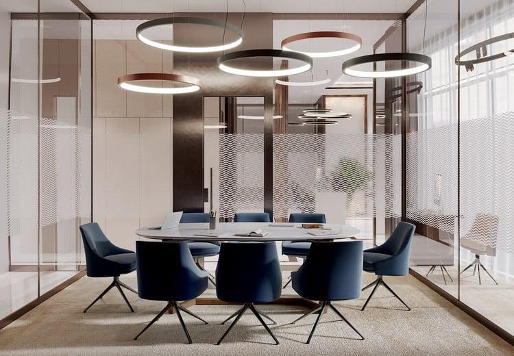 Phòng họp hiện đại với tính thẩm mỹ cao