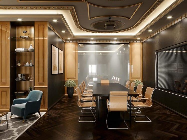 Thiết kế phòng họp nội thất gỗ