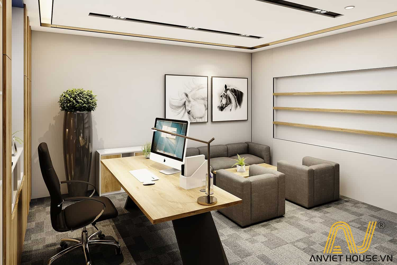 an viet house thiết kế phòng giám đốc hiện đại, sang trọng
