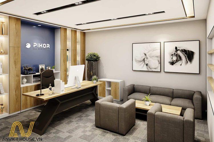 an viet house thiết kế phòng giám đốc hiện đại