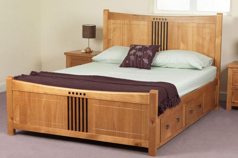 giường ngủ gỗ pơ mu