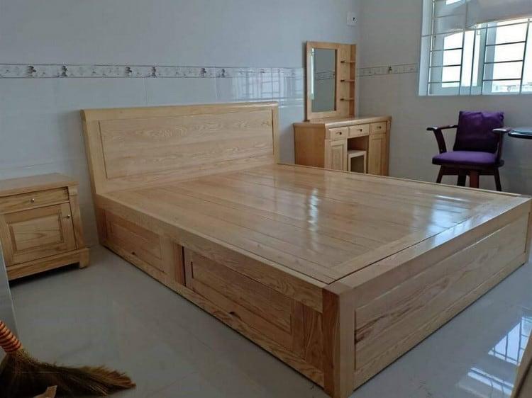 giường ngủ gỗ tự nhiên có ngăn kéo