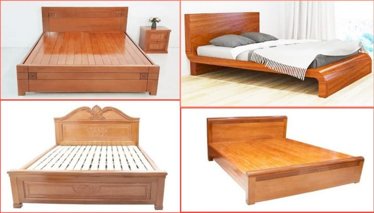 những mẫu giường ngủ gỗ xoan đào đẹp