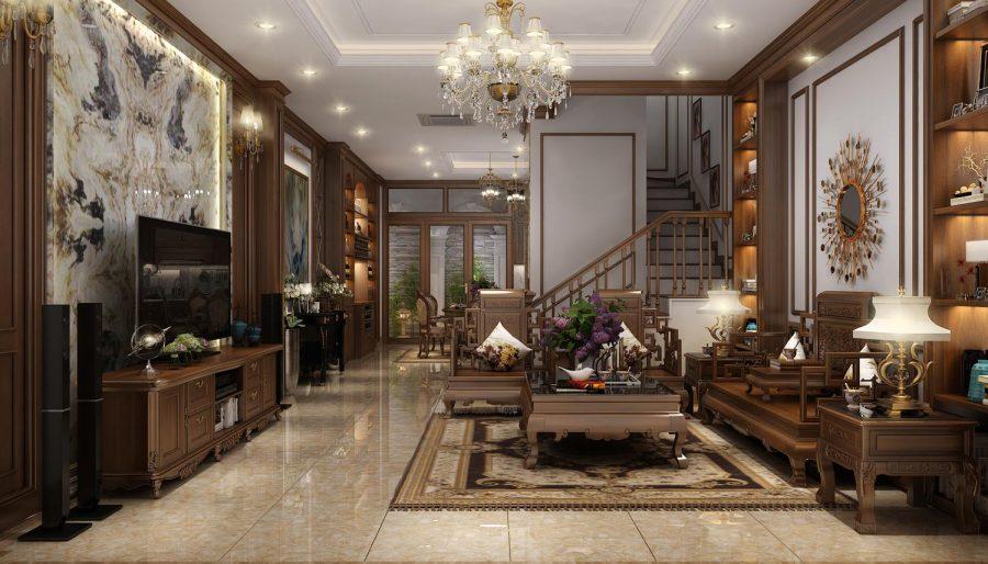 nội thất gỗ hương phòng khách