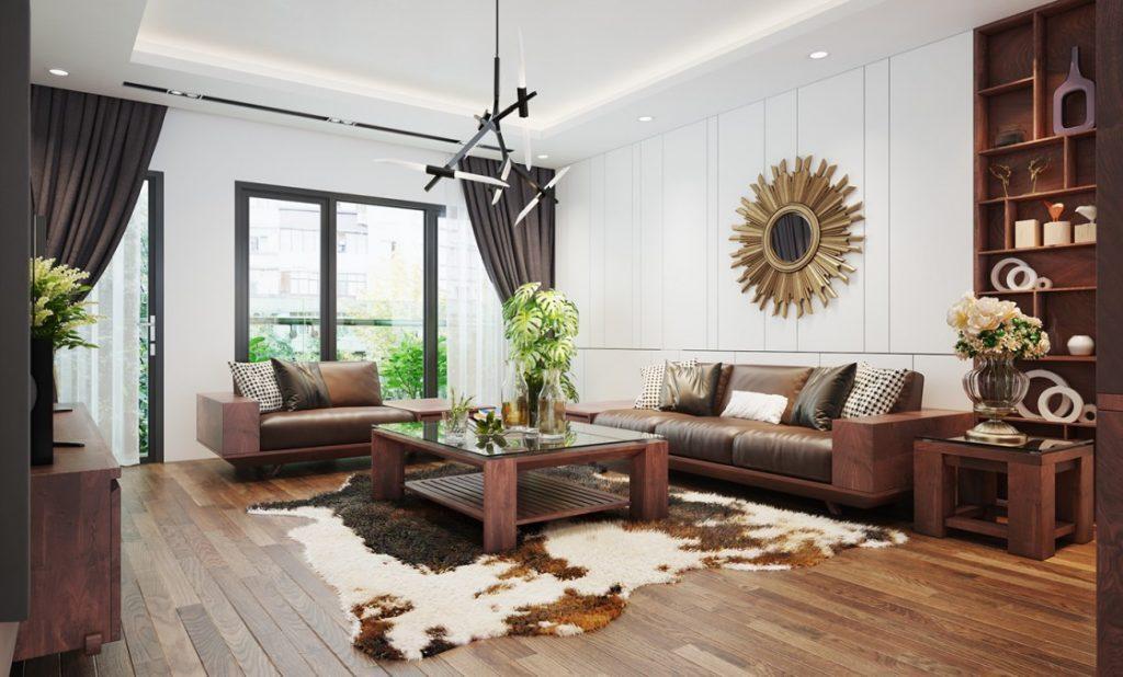 nội thất chung cư từ gỗ óc chó