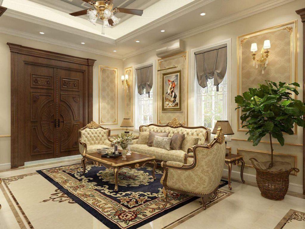 nội thất tân cổ điển gỗ gõ đỏ