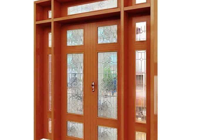 anviethouse thiết kế cửa gỗ lim sang trọng
