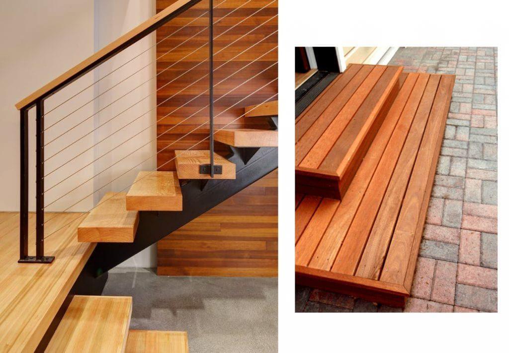 Cầu thang gỗ tần bì
