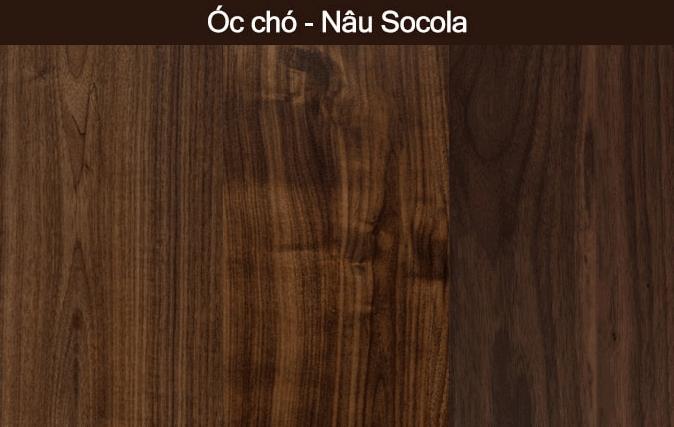 map gỗ óc chó màu nâu socola
