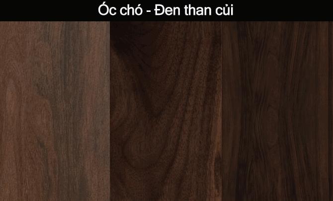 map gỗ óc chó màu than củi