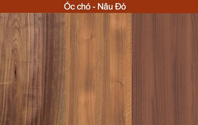 map gỗ óc chó màu nâu đỏ