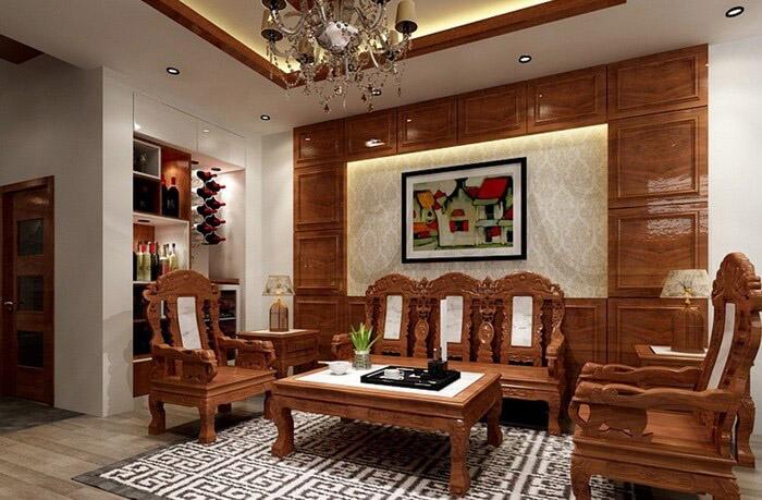 nội thất gỗ gõ đỏ