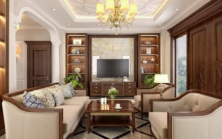 không gian phòng khách sang trọng