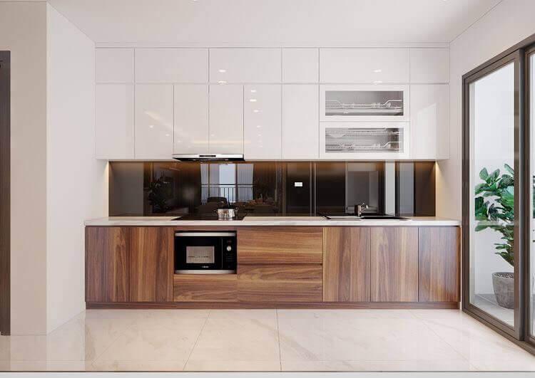 thiết kế tủ bếp chung cư