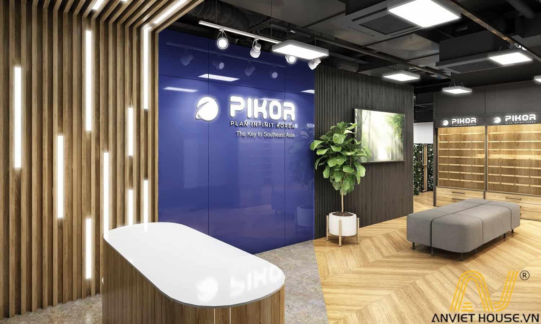 an viet house thiết kế sảnh văn phòng