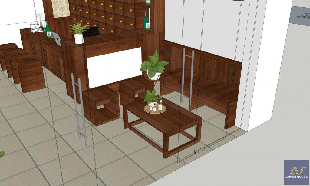 công ty nội thất an việt - thiết kế cửa hàng đông y