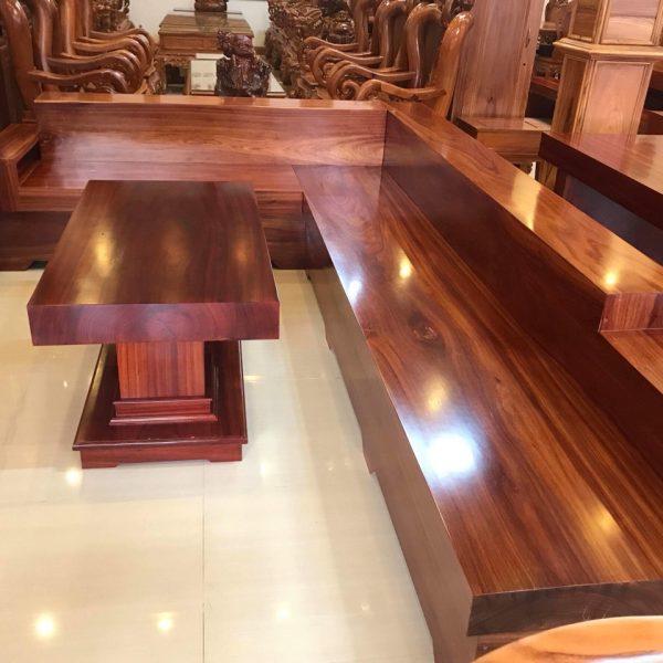 bàn ghế nguyên tấm gỗ hương