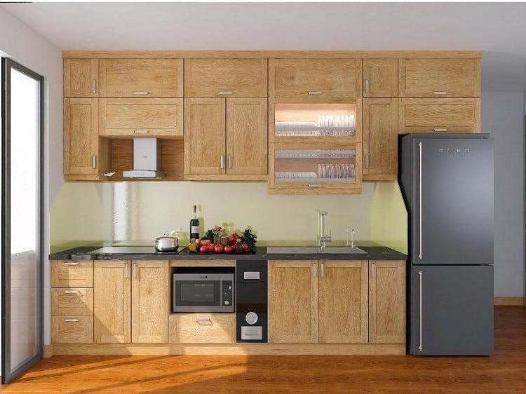 mẫu tủ bếp gỗ tần bì đẹp