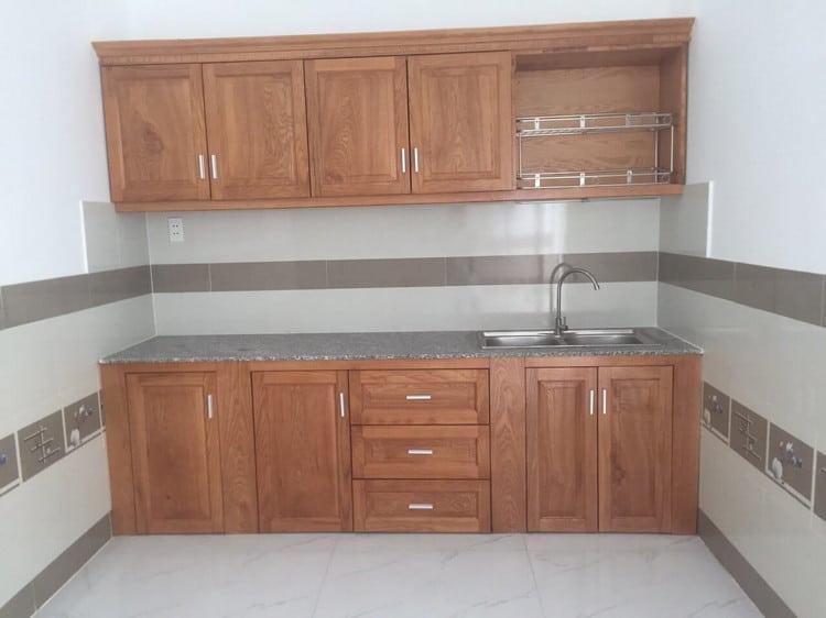 mẫu tủ bếp chữ I