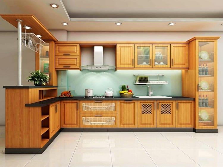 mẫu tủ bếp gỗ tự nhiên đẹp