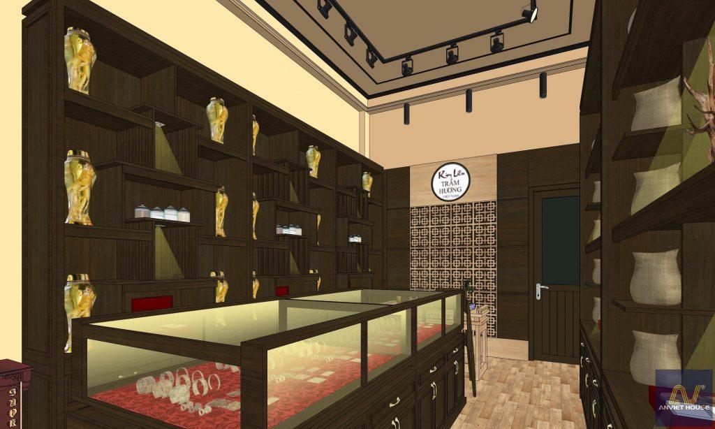 Thiết kế cửa hàng trầm hương