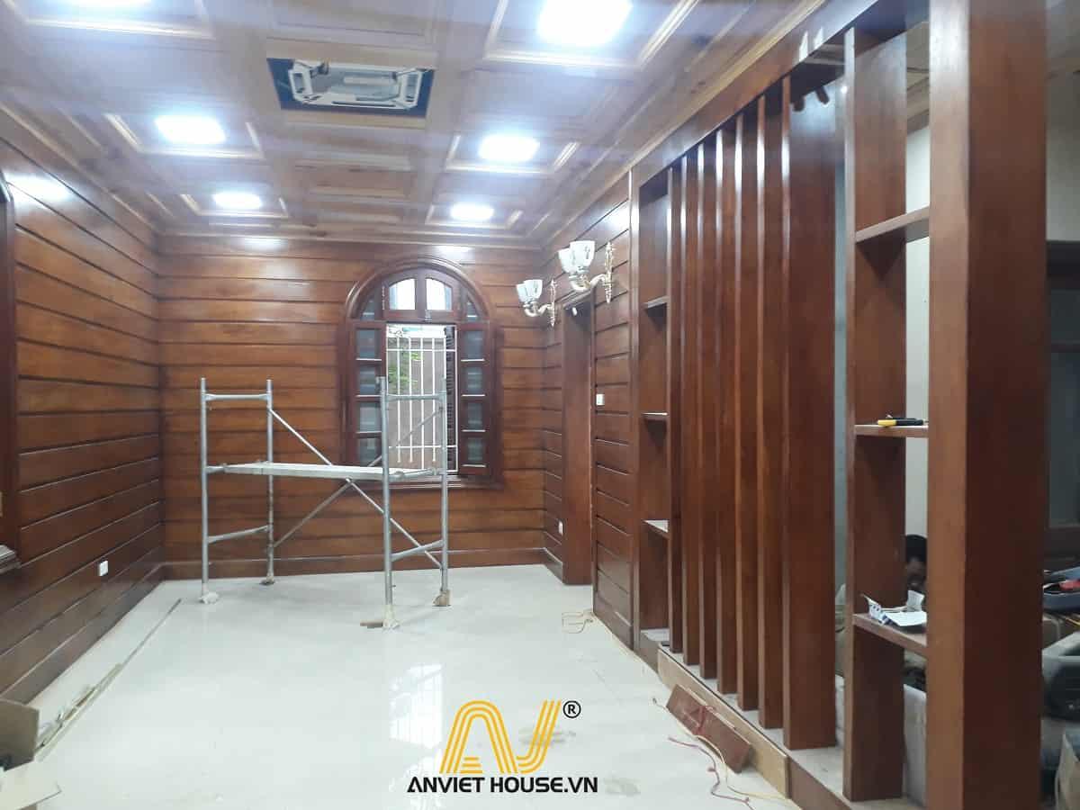 thi công nội thất gỗ tự nhiên - nội thất phòng khách