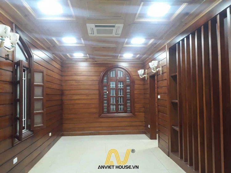 thi công nội thất gỗ tự nhiên - gỗ gõ đỏ, gỗ pơ mu