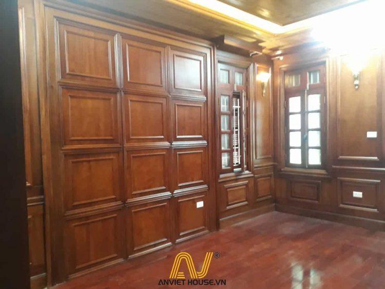 thi công nội thất phòng ngủ gỗ tự nhiên