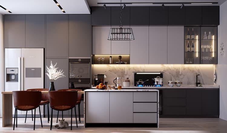 thiết kế nội thất nhà bếp đẹp và hiện đại
