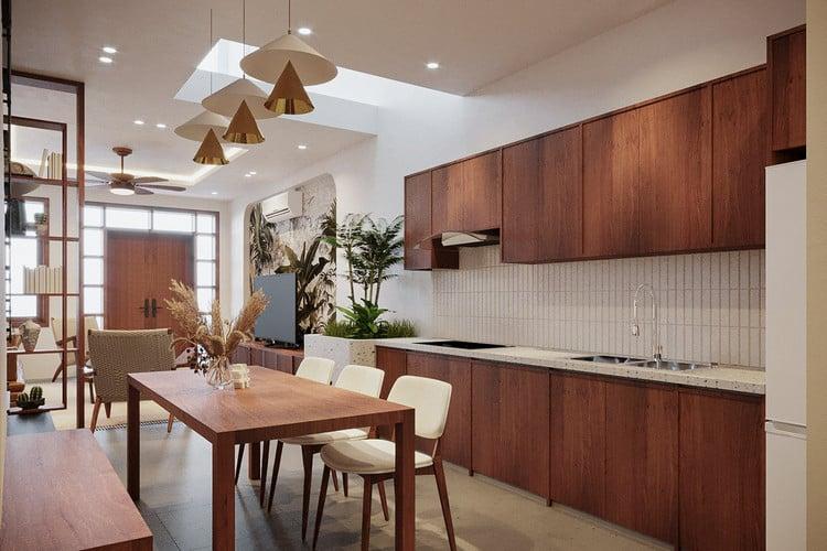 thiết kế nhà bếp hiện đại và đơn giản cho nhà nhỏ