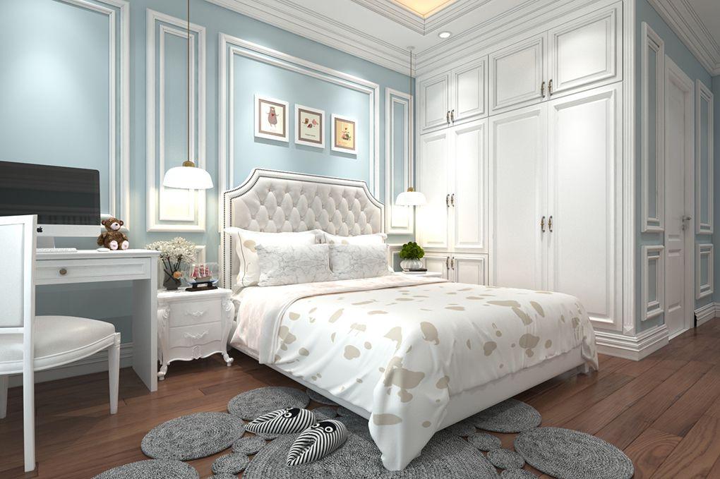 Thiết kế phòng ngủ tân cổ điển sang trọng