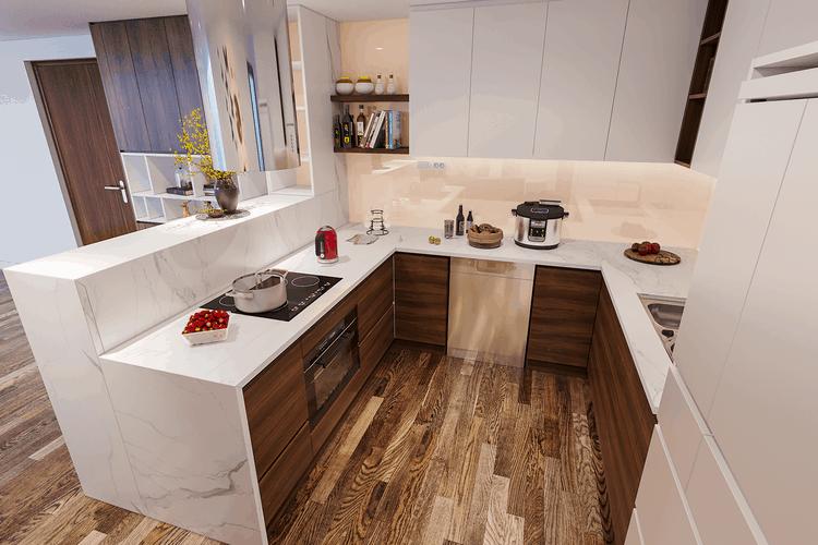 thiết kế nội thất phòng bếp đẹp và hiện đại