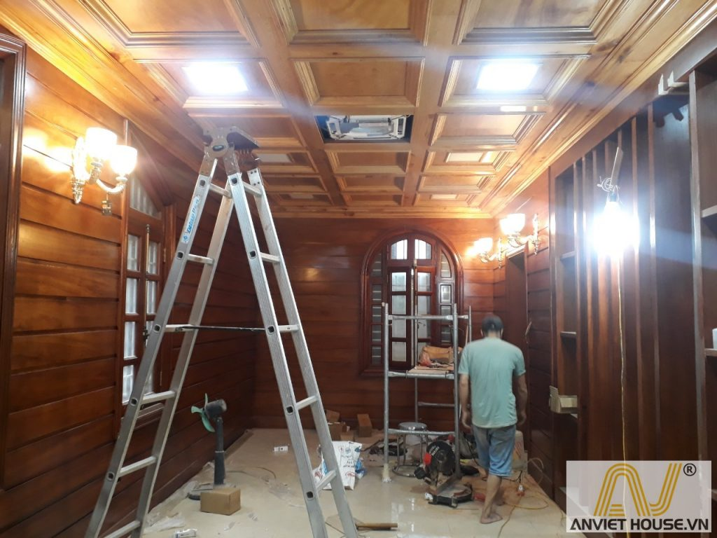 thi công nội thất gỗ gõ đỏ
