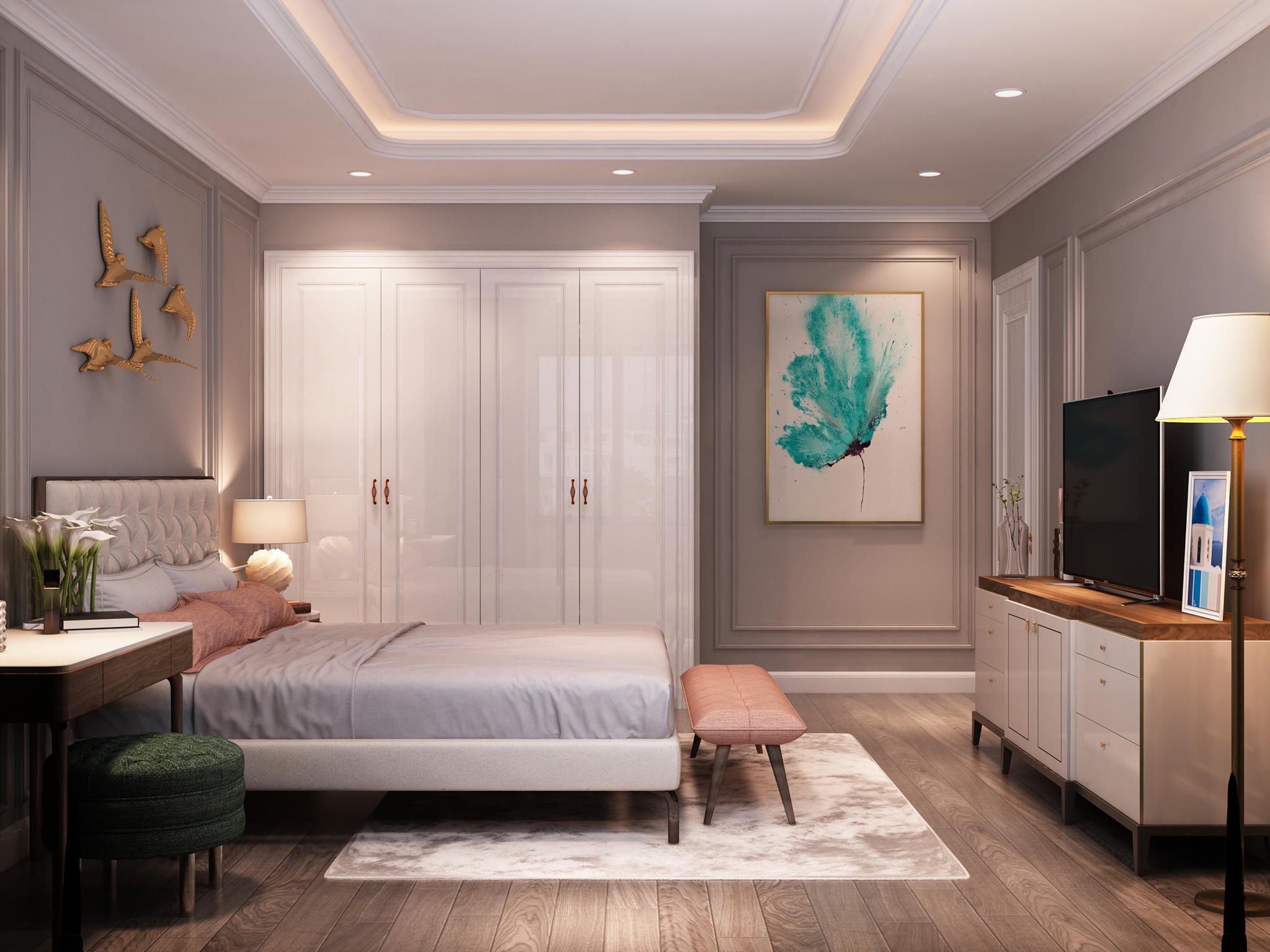 Thiết kế phòng ngủ 20m2 hiện đại