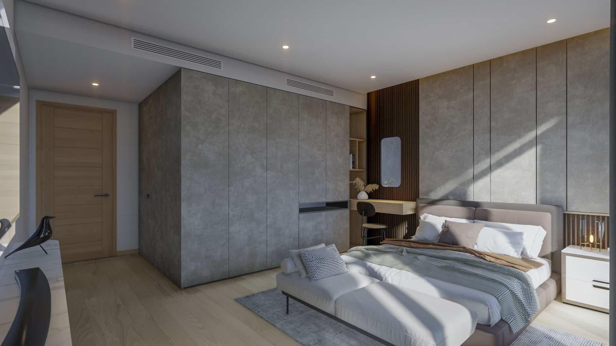 Thiết kế phòng ngủ đơn giản hiện đại